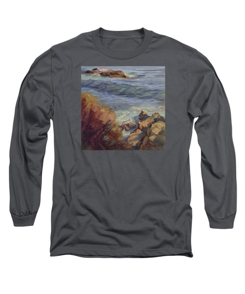 Incoming Wave Long Sleeve T-Shirt by Jane Thorpe