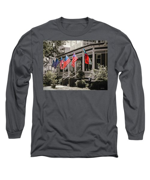 Independence Day Southport Style Long Sleeve T-Shirt by Phil Mancuso