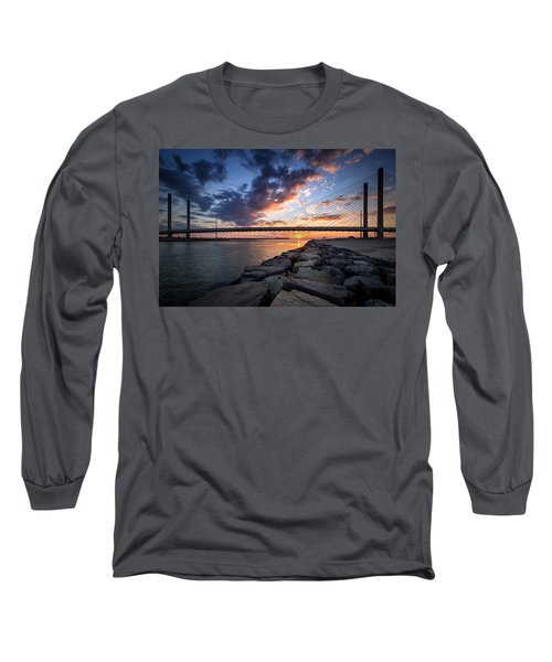 Indian River Inlet And Bay Sunset Long Sleeve T-Shirt