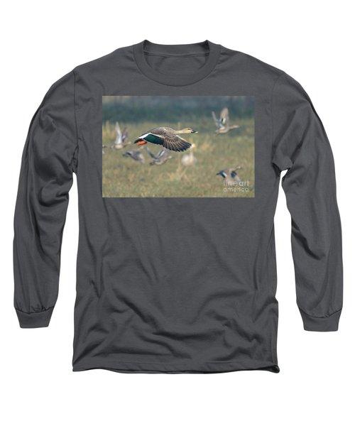 Indian Spot-billed Duck 01 Long Sleeve T-Shirt