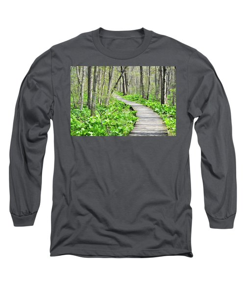 Indiana Dunes Great Green Marsh Boardwalk Long Sleeve T-Shirt