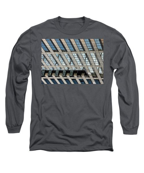 Indianapolis Downtown Long Sleeve T-Shirt by Michael Nowotny