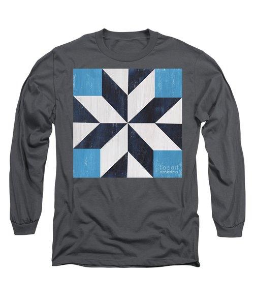 Indigo And Blue Quilt Long Sleeve T-Shirt