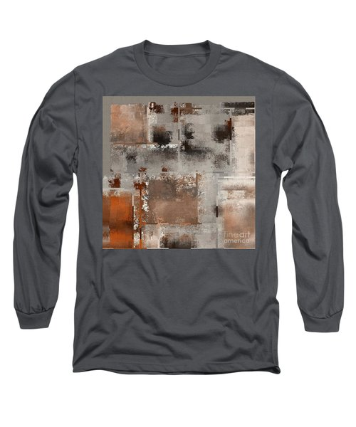Industrial Abstract - 01t02 Long Sleeve T-Shirt by Variance Collections