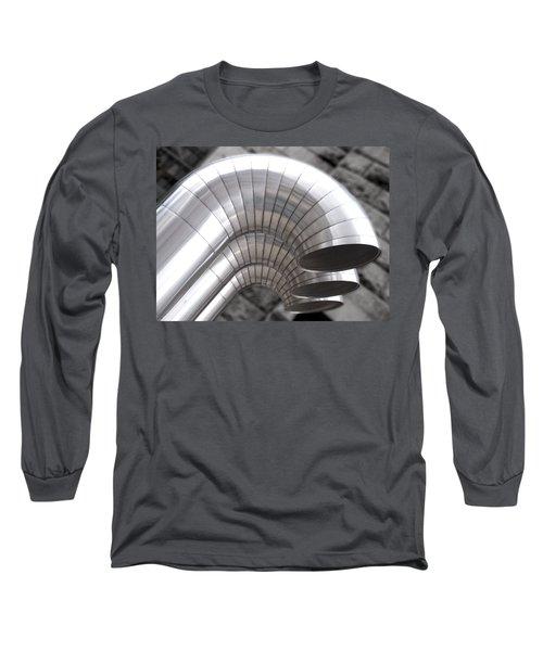Industrial Air Ducts Long Sleeve T-Shirt by Henri Irizarri