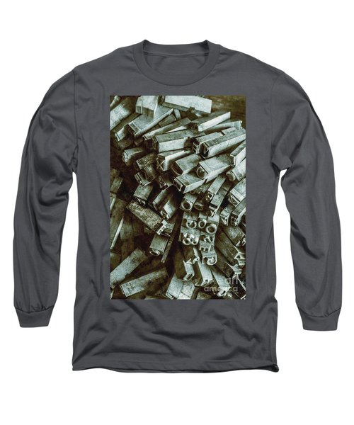 Industrial Letterpress Typeset  Long Sleeve T-Shirt