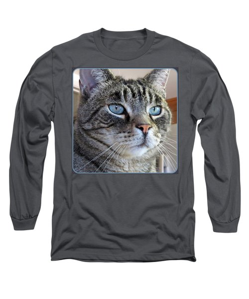 Indy With Border Long Sleeve T-Shirt by Vivian Krug Cotton