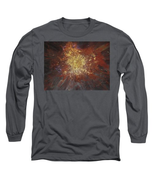 Long Sleeve T-Shirt featuring the painting Inner Fire by Michael Lucarelli