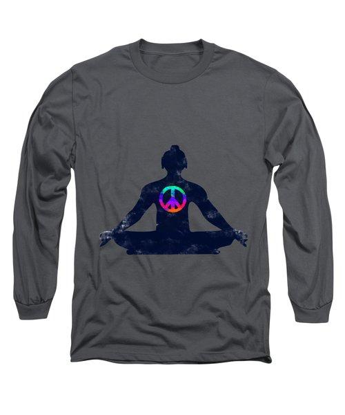 Inner Peace Long Sleeve T-Shirt by Keshava Shukla