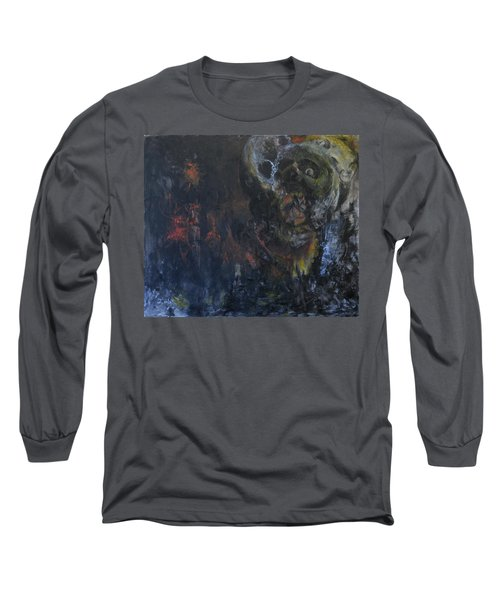 Long Sleeve T-Shirt featuring the painting Innocence Lost by Christophe Ennis