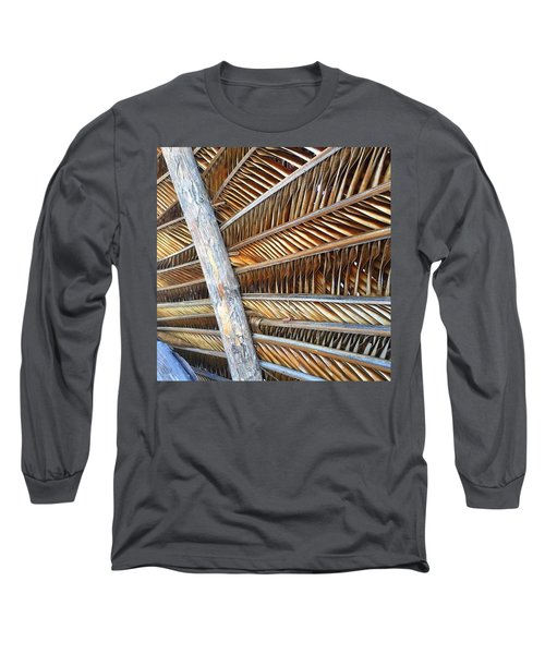 Palm Thatch Detail  Long Sleeve T-Shirt