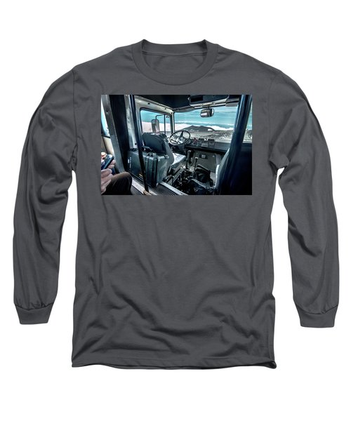 Inside The Etna Tour Unimog Long Sleeve T-Shirt by Patrick Boening