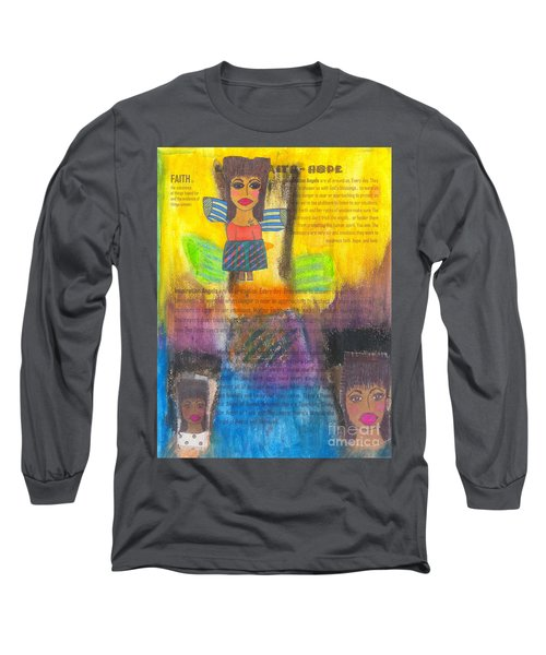 Inspiration Angels Long Sleeve T-Shirt by Angela L Walker