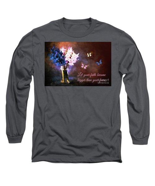 Inspirational Flower Art Long Sleeve T-Shirt