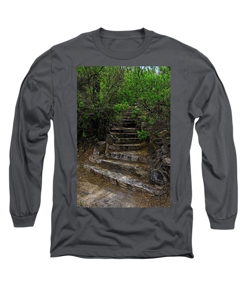 Long Sleeve T-Shirt featuring the photograph Instep With Nature V53 by Mark Myhaver