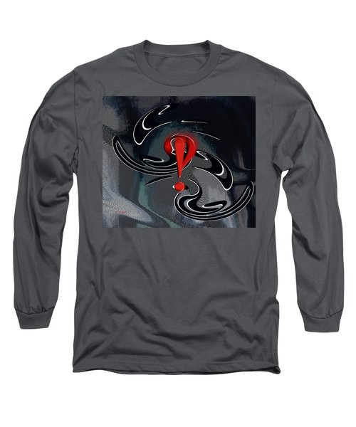Long Sleeve T-Shirt featuring the digital art Interrobang First by rd Erickson