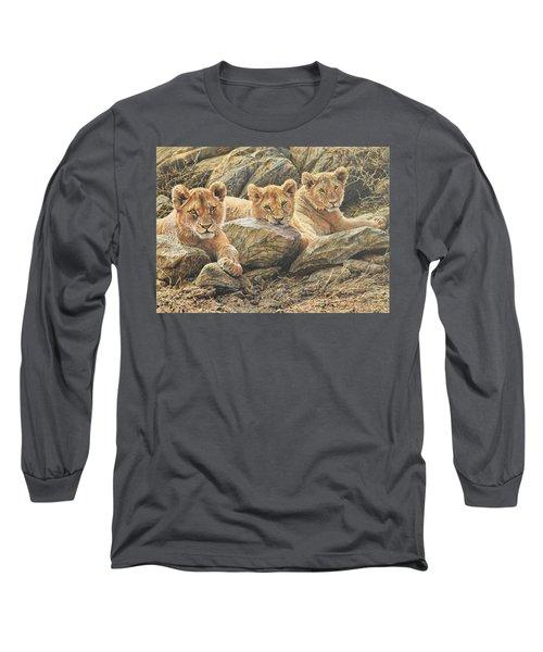Interrupted Cat Nap Long Sleeve T-Shirt