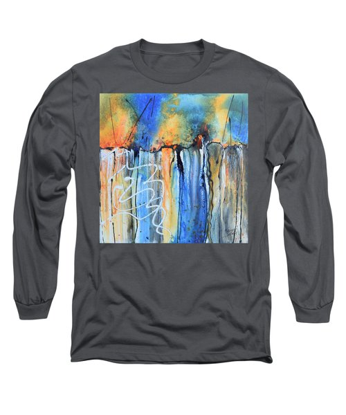 Into The Earth Long Sleeve T-Shirt by Nancy Jolley