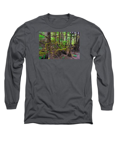 Into The Forest Long Sleeve T-Shirt by Lewis Mann
