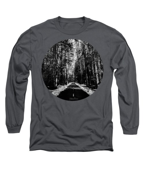 Into The Woods, Black And White Long Sleeve T-Shirt by Adam Morsa