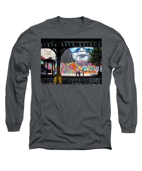 Long Sleeve T-Shirt featuring the photograph Inwood Street Art  by Cole Thompson