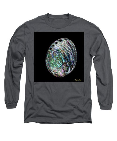Long Sleeve T-Shirt featuring the photograph Iridescence On The Half-shell by Rikk Flohr