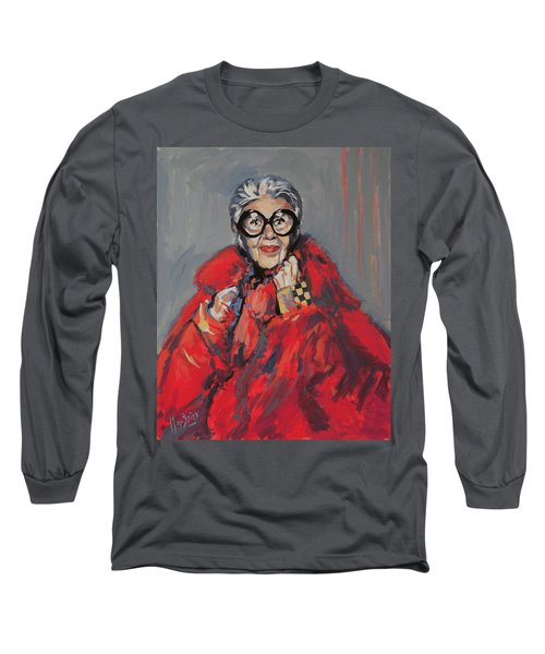 Iris Apfel Style Icon Long Sleeve T-Shirt