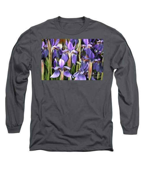 Long Sleeve T-Shirt featuring the photograph Iris Fantasy by Benanne Stiens