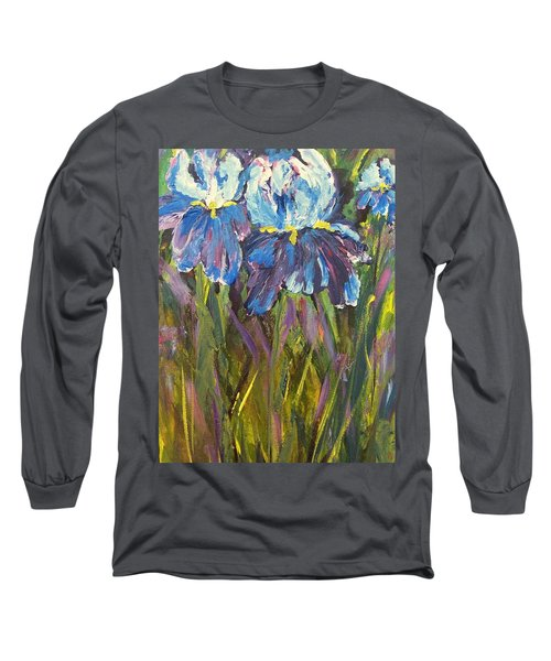Iris Floral Garden Long Sleeve T-Shirt