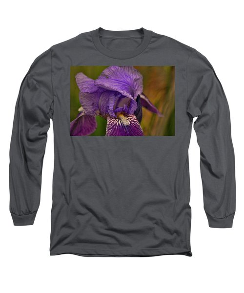 Long Sleeve T-Shirt featuring the photograph Iris Popping Out by Rick Friedle