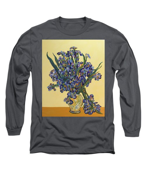 Irises  Long Sleeve T-Shirt by Erika Pochybova