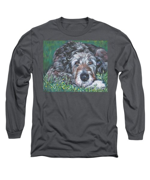 Irish Wolfhound Long Sleeve T-Shirt by Lee Ann Shepard