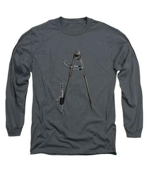 Iron Compass Backside In Bw Long Sleeve T-Shirt