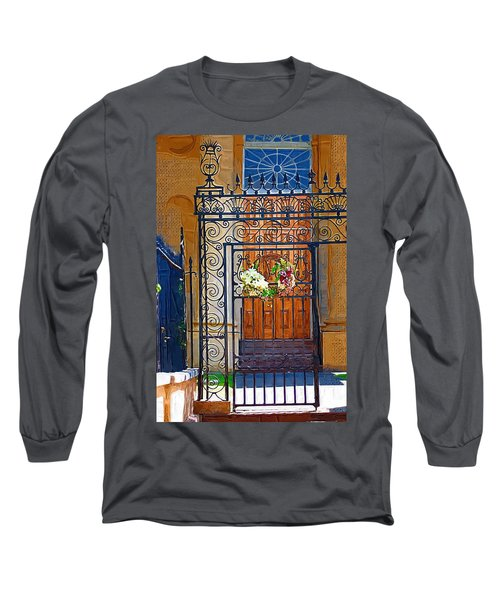 Long Sleeve T-Shirt featuring the photograph Iron Gate by Donna Bentley