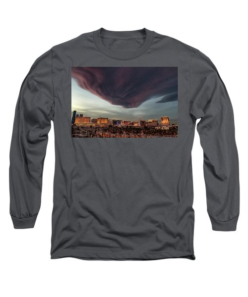 Long Sleeve T-Shirt featuring the photograph Iron Maiden Las Vegas by Michael Rogers