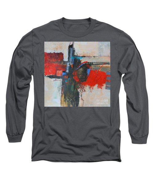 Long Sleeve T-Shirt featuring the painting Is This The Way Out? by Ron Stephens