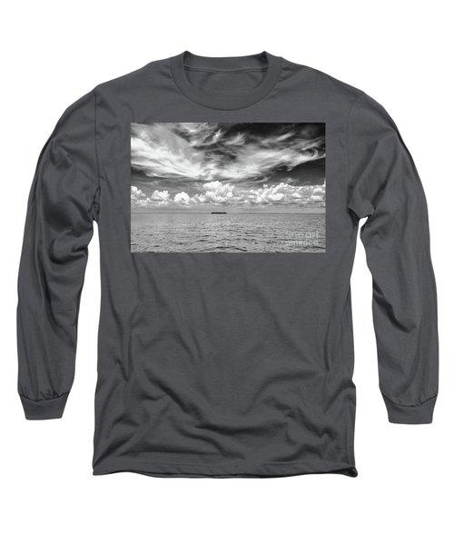 Island, Clouds, Sky, Water Long Sleeve T-Shirt