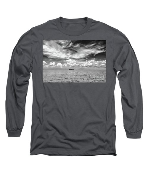 Island, Clouds, Sky, Water Long Sleeve T-Shirt