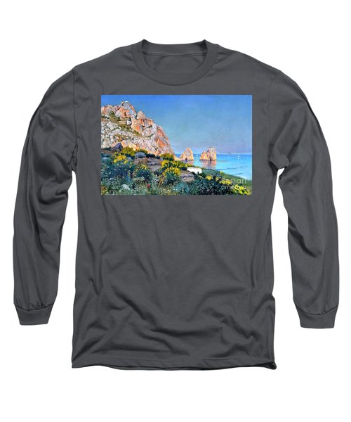 Island Of Capri - Gulf Of Naples Long Sleeve T-Shirt