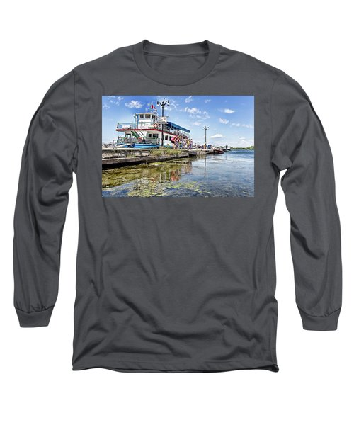 Island Princess At Harbour Dock Long Sleeve T-Shirt