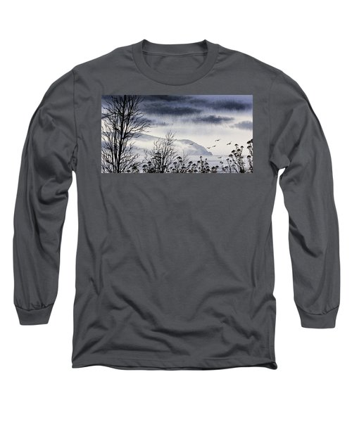 Long Sleeve T-Shirt featuring the painting Island Solitude by James Williamson