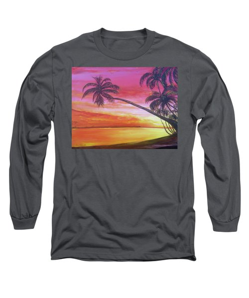 Island Sunrise Long Sleeve T-Shirt