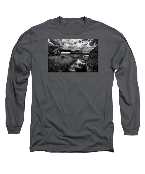 Isolated Shower - Bw Long Sleeve T-Shirt by Christopher Holmes