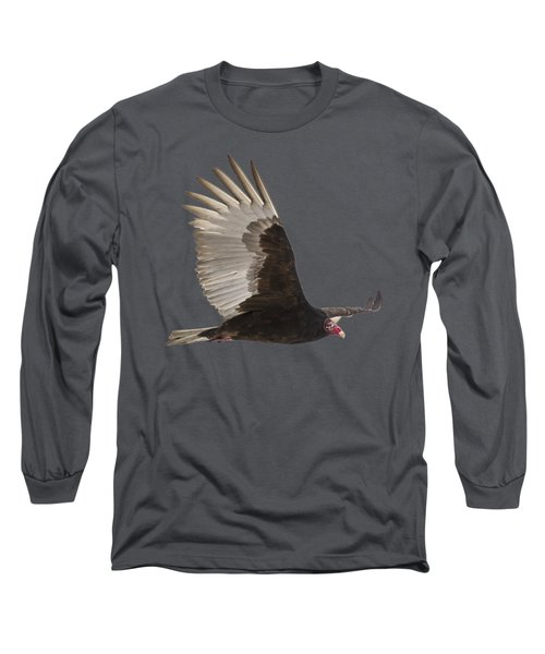 Isolated Turkey Vulture 2014-1 Long Sleeve T-Shirt by Thomas Young