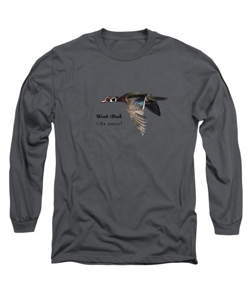 Isolated Wood Duck 2017-1 Long Sleeve T-Shirt by Thomas Young