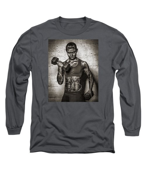 Isometrics  Long Sleeve T-Shirt by Scott Meyer