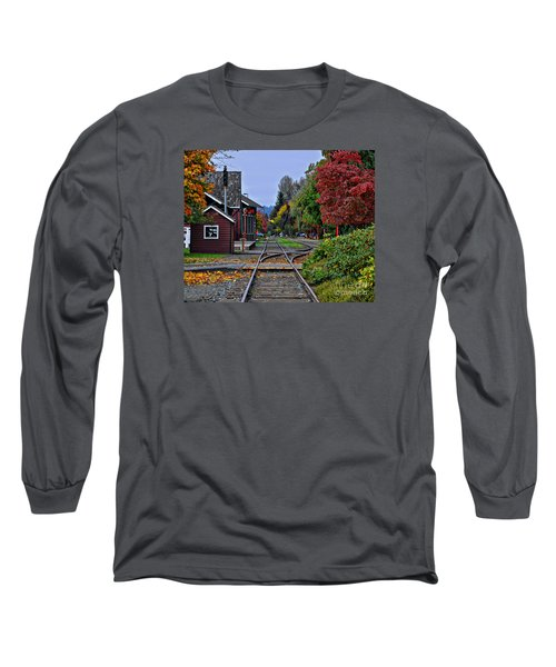 Issaquah Train Station Long Sleeve T-Shirt by Kirt Tisdale