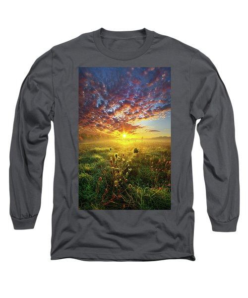 Long Sleeve T-Shirt featuring the photograph It Begins With A Word by Phil Koch