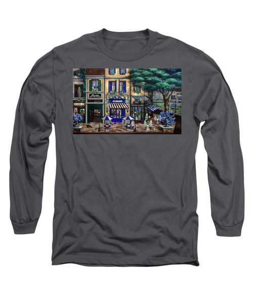 Italian Cafe Long Sleeve T-Shirt by Curtiss Shaffer