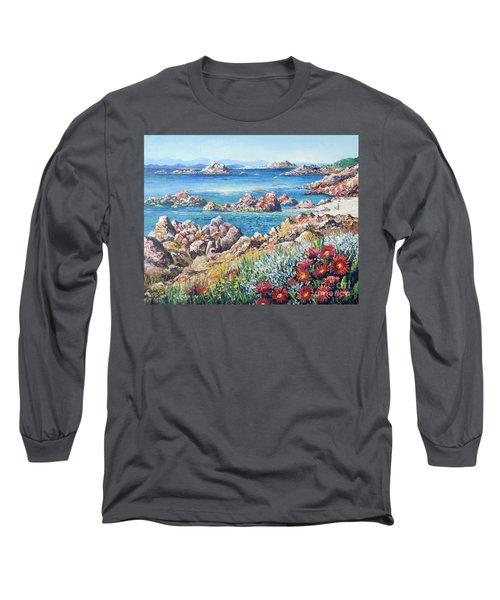 Italian Coastline Long Sleeve T-Shirt by Lou Ann Bagnall